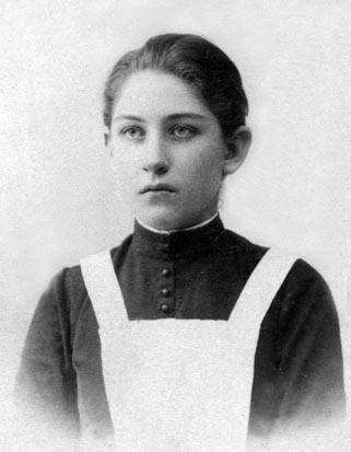 Ekaterina Khlebnikova a student of grammar-school. <br>From the family photo-book