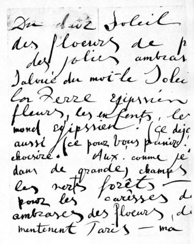A part of V.Khlebnikova's letter to Kes van Dongen. <br>The collection of the Velimir Khlebnikov house-museum