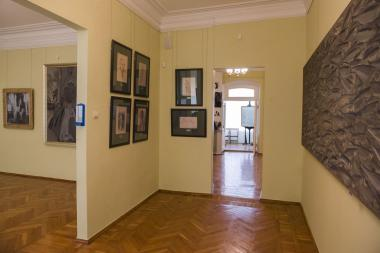 The room of Vera Khlebnikova's drawings